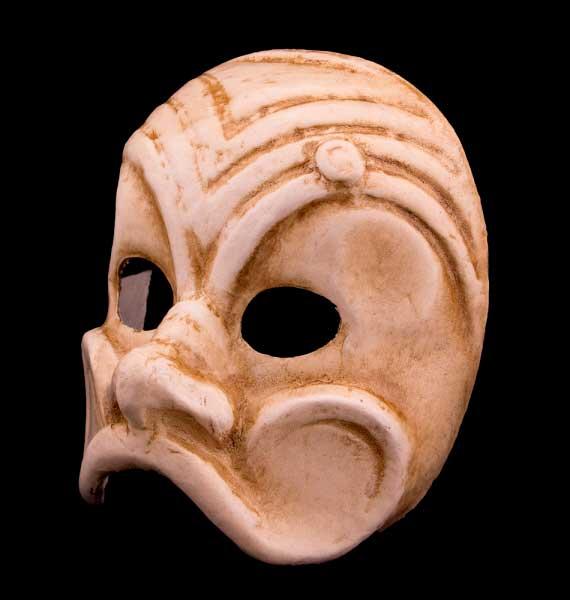 Masque de arlequin en papier mache creation artisanale - Masque papier mache ...