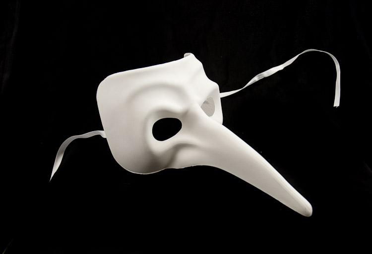 Masque blanc masque peindre masque neutre for Decorer un masque blanc