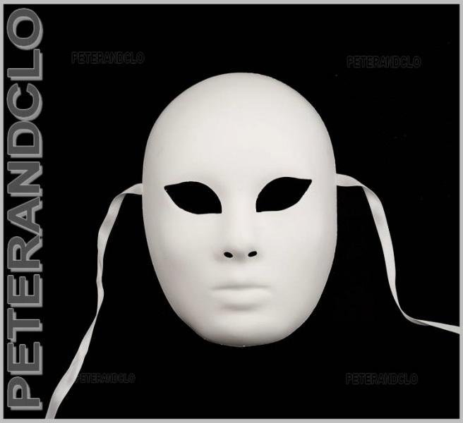 Masque Venitien Blanc A Decorer