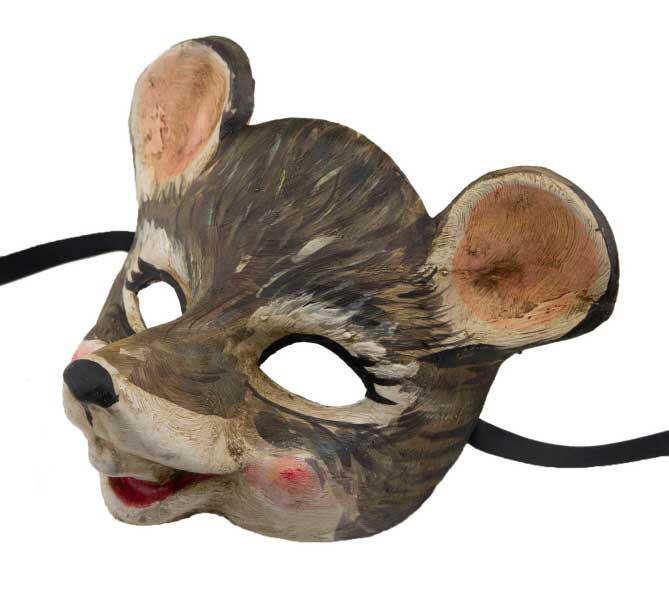 masque de venise souris grise en papier m ch pour petit visage enfant 2419 v16. Black Bedroom Furniture Sets. Home Design Ideas