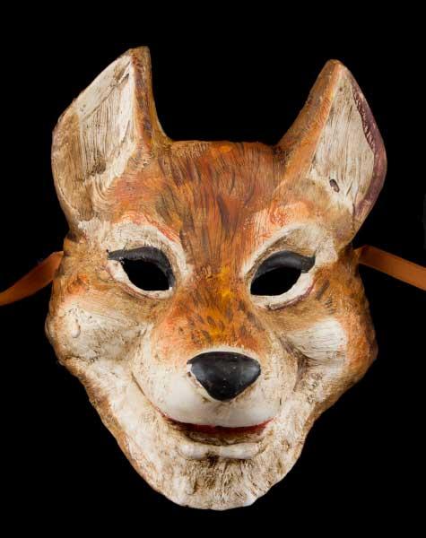 masque de venise le grand mechant loup papier mache masque. Black Bedroom Furniture Sets. Home Design Ideas