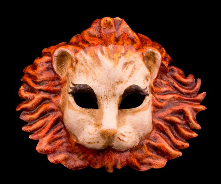 masque lion en papier mache - Masque Lion