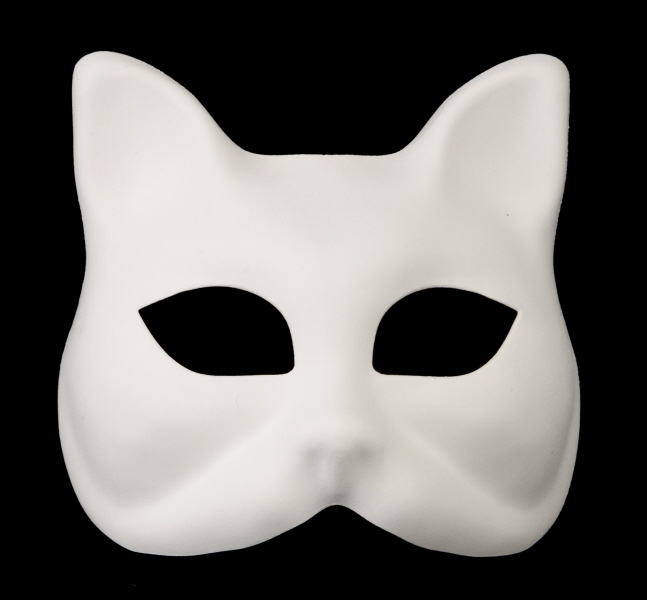 masque venitien chat gatto a peindre pour petit visage ou enfan. Black Bedroom Furniture Sets. Home Design Ideas