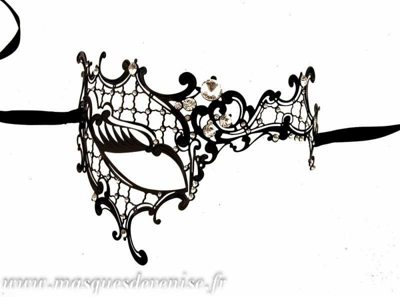 masque de venise loup fantasme venitien dentelle de metal masque dentelle masque venitien. Black Bedroom Furniture Sets. Home Design Ideas
