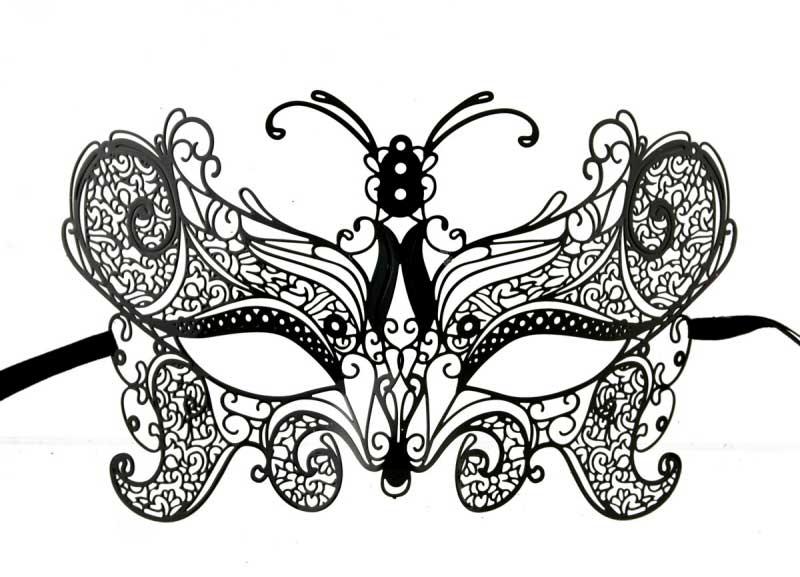 Masque de venise loup civette papillon carnaval en dentelle de metal masque dentelle masque - Masque papillon carnaval ...