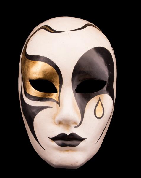 style populaire Quantité limitée nouveau authentique Masque Venise de Collection Pierrot en papier mâché-2149