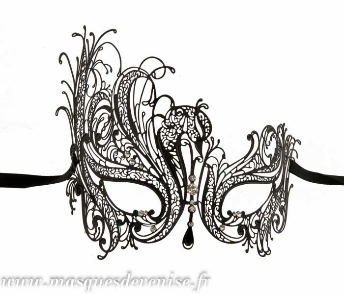 Masque de venise en dentelle de metal masque dentelle - Masque venitien a imprimer ...
