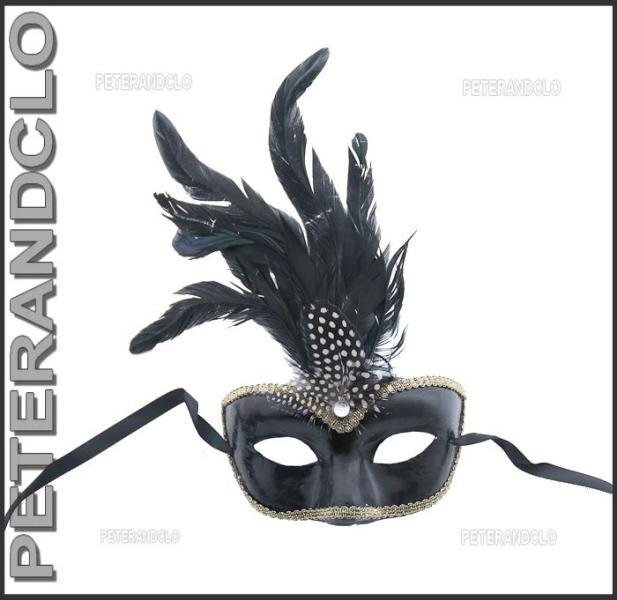 masque de venise civette toupet a plumes pas cher masque venitien masques plumes masque a. Black Bedroom Furniture Sets. Home Design Ideas
