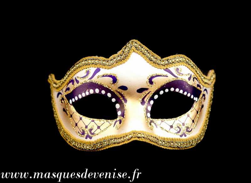 masque de venise loup colombine diademe violet authentique carnaval venitien masques venitiens. Black Bedroom Furniture Sets. Home Design Ideas