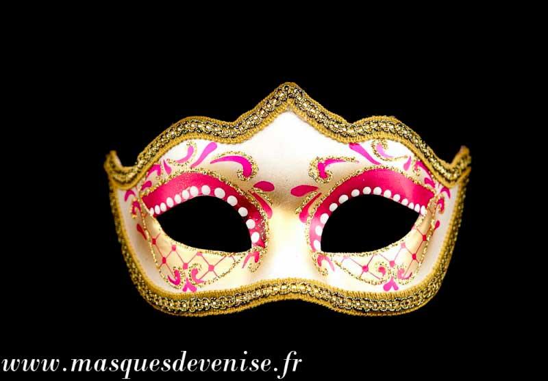 masque de venise loup colombine diademe rose authentique carnaval venitien masques venitiens. Black Bedroom Furniture Sets. Home Design Ideas