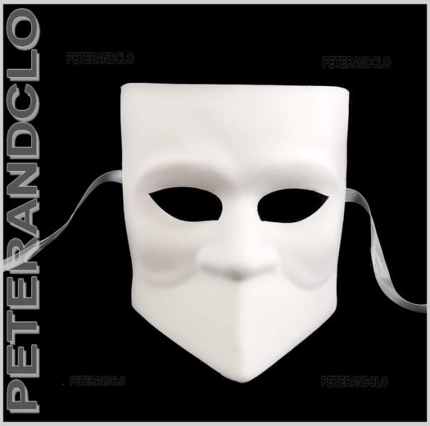 masque de venise blanc masque blanc masque papier mache masques peindre. Black Bedroom Furniture Sets. Home Design Ideas