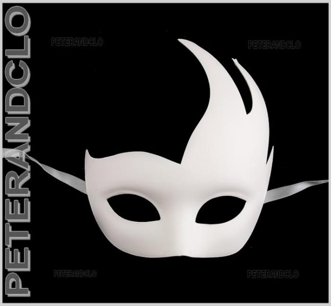 Masque de venise a peindre colombine ondine authentique - Masque venitien a imprimer ...
