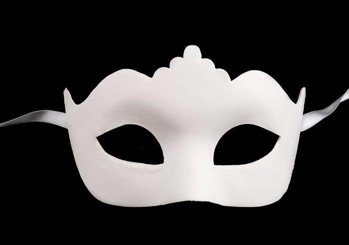 Kunst vóór 2000 (modern) Masque de Venise Blanc à Peindre Volto Visage Carnaval Venitien  102 Etnische kunst
