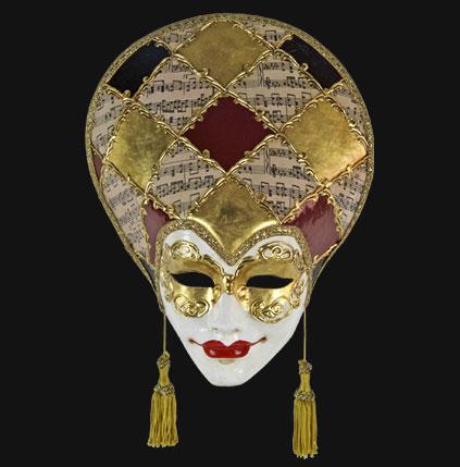 Masque de venise volto liberty musica masque venitien deguisement de fete masque de carnaval - Masque papier mache ...