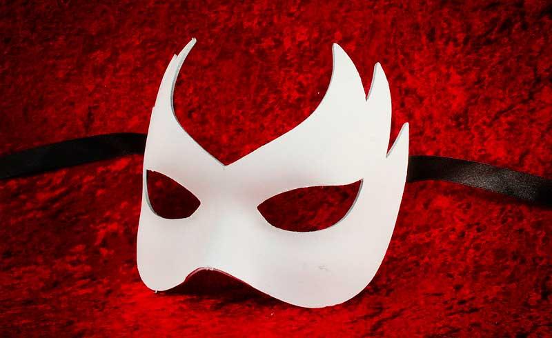 masque de venise a peindre colombine flamme en papier mache. Black Bedroom Furniture Sets. Home Design Ideas