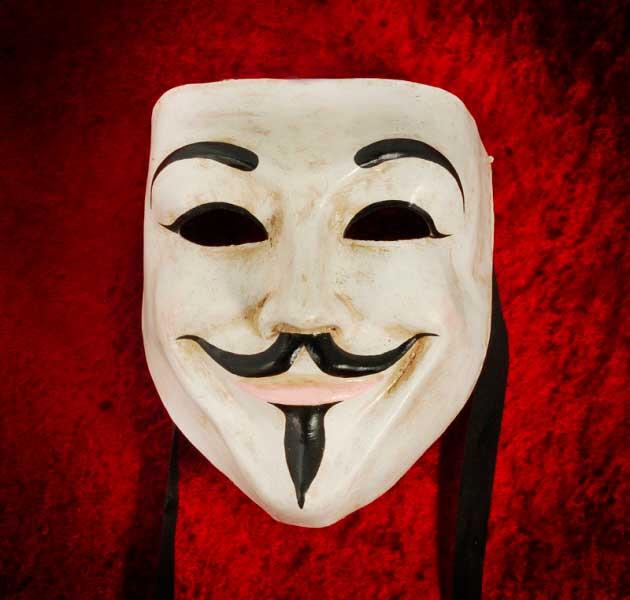 Anonymous masque de venise vendetta authentique en papier mache 188 - Masque papier mache ...