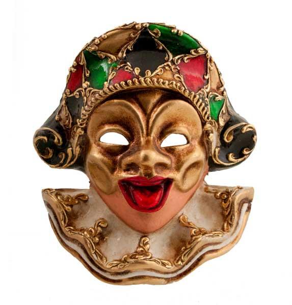 Masque De Venise Miniature Arlequin Papier Maché Masque Venitien