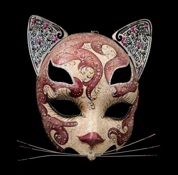 Chat rose masque de venise de qualit masque ventien - Masque venitien decoration ...