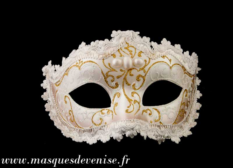 masque de venise loup colombine diademe blanc authentique carnaval venitien masques venitiens. Black Bedroom Furniture Sets. Home Design Ideas