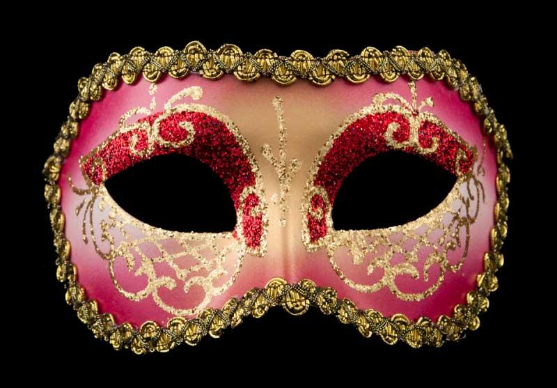 masque venitien lea rouge rose bal masqu soir e masques de venise masques colombine de gala. Black Bedroom Furniture Sets. Home Design Ideas