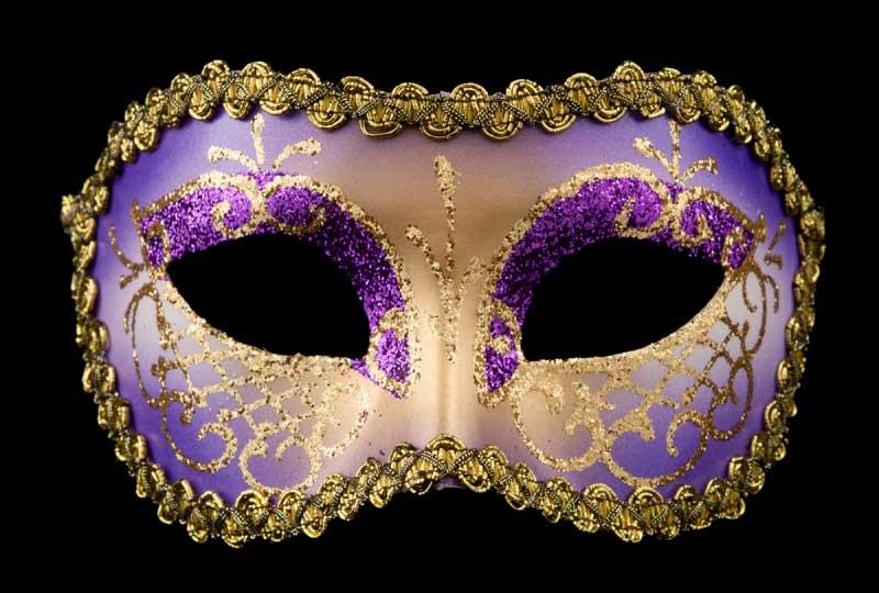 masque venitien lea violet bal masqu soir e masques de venise masques colombine de gala. Black Bedroom Furniture Sets. Home Design Ideas
