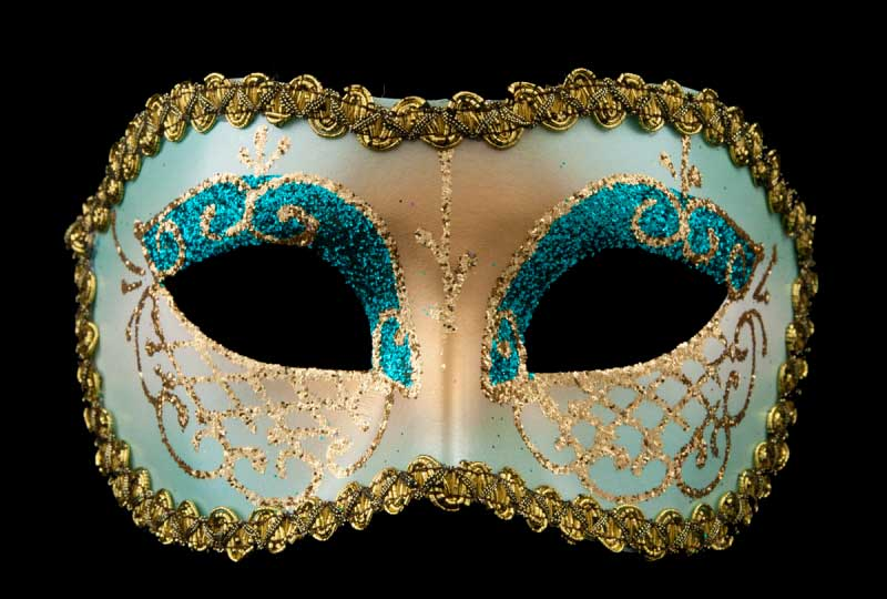 masque venitien lea bleu vert bal masqu soir e masques de venise masques colombine de gala. Black Bedroom Furniture Sets. Home Design Ideas