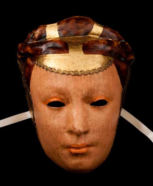 Masque venitien visage la dame en papier mache - Masque papier mache ...