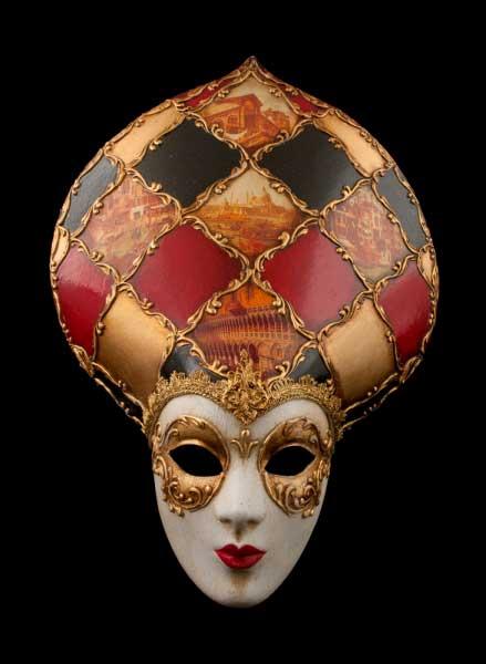 Masque de venise volto dogeauthentique papier mache - Masque papier mache ...