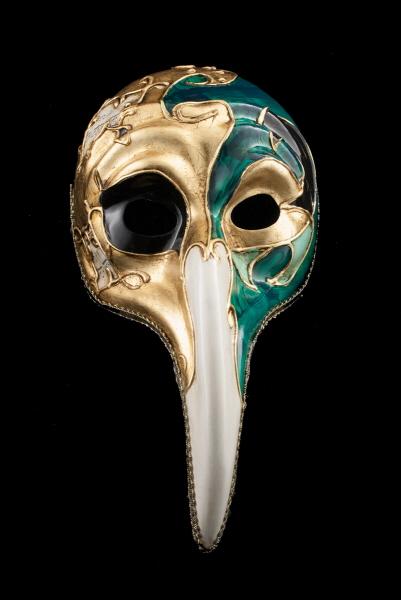 masque turco symphonia vert noir long nez bal masqu ou pour soir e masques de venise masque de gala. Black Bedroom Furniture Sets. Home Design Ideas