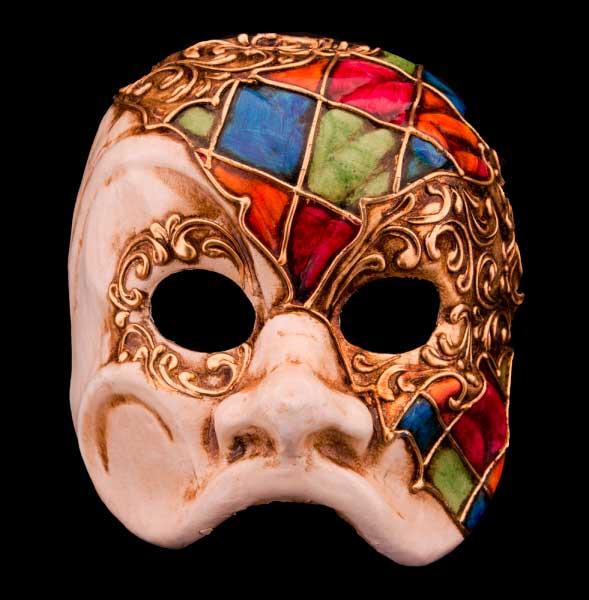 Masque De Arlequin En Papier Mâché Création Artisanale Mosaïque