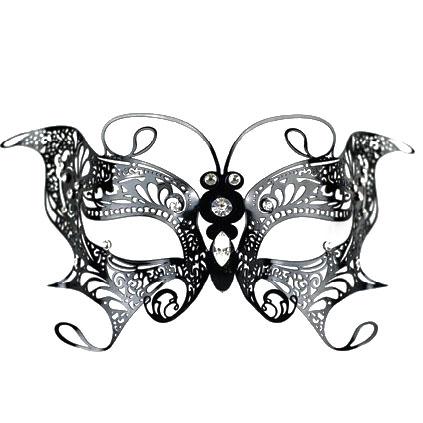 Masque de venise en metal masque ventien metal filigrane - Masque papillon carnaval ...