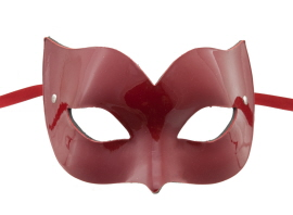 MASQUE DE VENISE EN CUIR ROUGE BRILLANT LINE EROTIC 44
